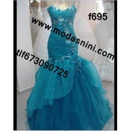 vestido de fiesta f695